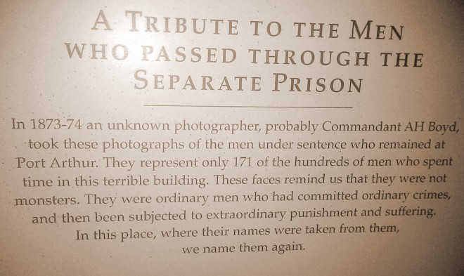 Port Arthur Separate Prison Words